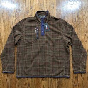 Polo Ralph Lauren RLX Plaid Golf Fleece Sweater